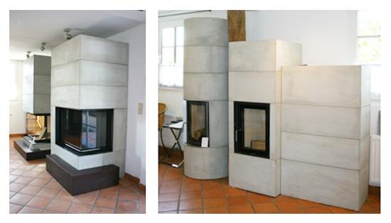 Brunner-Systemkamine - fertig aufgebaute Bausätze in unserer Ausstellung